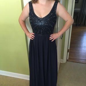 Midnight blue formal dress
